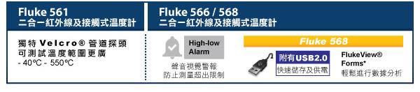 /1/ 獨特Velcro®管道探頭,可測試溫度範圍更廣 - 40ºC -550ºC /2/ 聲音視覺警報,防止測量超出限制 /3/ 附有USB2.0,快速儲存及供電 /4/ FlukeView® Forms*,輕鬆進行數據分析